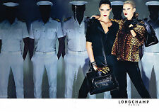PUBLICITE   2009   LONGCHAMP  haute couture KATE MOSS  ( 2 pages)
