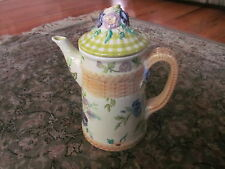 "Beautiful  Tracy Porter:9.5"" HandPainted *NEW* ""Cottage Rose"" - Large Coffee Pot"