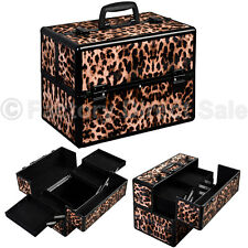 "Pro 14""x9""x10""Aluminum Makeup Train Case Jewelry Box Cosmetic Organizer Leo"
