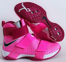 "NIKE LEBRON SOLDIER 10 PINK BLAST ""KAY YOW BREAST CANCER"" SZ 9.5 [844374-606]"
