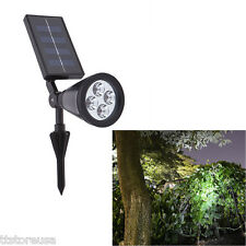 Hot Solar Powered Garden LED Spot Lights Outdoor Landscape Spotlight High Bright