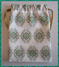 Pentacle Tarot Card Bag, ideal for most fairy, angel & Wicca tarot cards