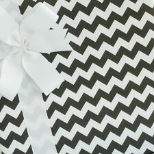 Chevron Wrapping Paper / Gift Wrap - Black Licorice - by SmashCake & Co.