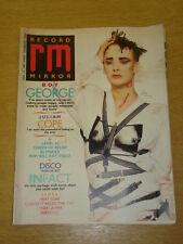 RECORD MIRROR 1987 MARCH 14 BOY GEORGE JULIAN COPE