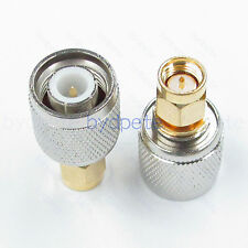 TNC male plug to SMA male plug Straight RF connector Adapter for Antenna Router