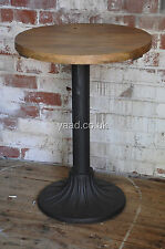 round Pine cafe table