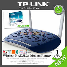 300Mbps Wireless N ADSL2+ Modem Router4-Port High Speed TD-W8960N TP-Link NEW