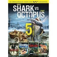 SyFy CHANNEL: Mega Shark vs Giant Octopus-Piranha-Miami Magma-Momentum-NEW DVD