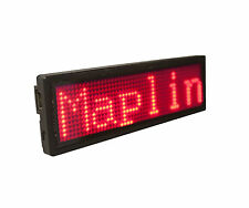 LED Scrolling Message Badge Red 1500 Characters USB CD Software Text Image New