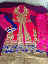 anarkali designer bollywood salwar kameez fully stitched dress size 8/10