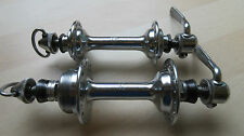 Vintage Campagnolo Steel Italian Threaded Hubset, 36/36H, skewers, Rare