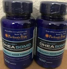 2X Puritan's Pride DHEA 50 mg total 200 Tablets