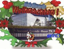Postkarte + Frohe blau-weiße Weihnachten + Tausend Freunde Mauer Gelsenkirchen +