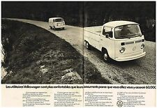 Publicité Advertising 1972 (2 pages) VW Volkswagen Camionnette et Pick-up