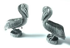 Pelican Collectors Two cute little Pewter 3D  Pelican Figurines