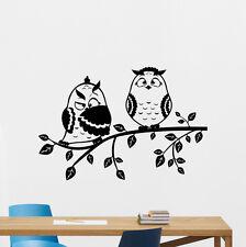 Owls Tree Branch Wall Decal Bird Nursery Vinyl Sticker Nature Kids Decor 136nnn