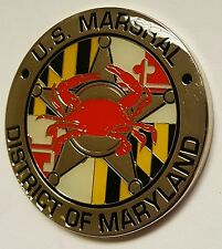 USMS United States Marshals Service District of Maryland Crab Coin SILVER METAL