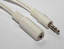 3.5mm Stereo Jack Headphone Extension Audio Lead White Cable 1.2m
