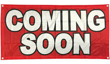 Fabric 2x4 ft Banner Sign Store Sale Retail Vinyl Alternative- COMING SOON rb