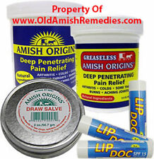 AMISH ORIGINS STOP ACHING JOINT PAIN RELIEF DEEP PENETRATING OINTMENT VALUE PACK