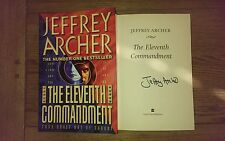 The Eleventh Commandment SIGNED Jeffrey Archer 1st edition 1st Impression Book