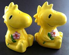 Woodstock from Charlie Brown SALT PEPPER SHAKERS FIGURAL BABY YELLOW DINOSAUR