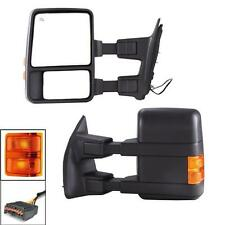 99-07 Ford F250 Super Duty Excursion Towing Mirrors Power Heated Turn Signal Set