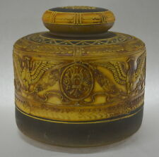Antique Nippon Moriage Eagles Humidor or Tobacco Jar 1910