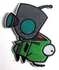 """Invader Zim & Gir Large 3.5"""" Embroidered  Patch-FREE S&H (ANPA-ZIM & GIR)"""