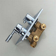 Triple Ways Chrome Wall-mounted Shower Faucet Control Valve Mixer Tap