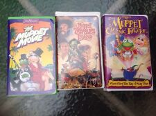 Lot of 3 Kids VHS Tapes Muppet Movie, Classic Theater, and Treasure Island w box