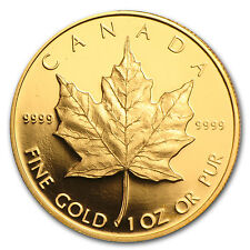 1989 1 oz Proof Gold Canadian Maple Leaf Coin - Box and Certificate - SKU #36112