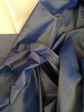 Vintage Fabric Designer Blue Clay Faux Silk Taffetta Curtain Fabric 10 Metre
