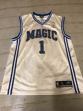 Orlando Magic #1 Tracy McGrady Blue NBA Basketball Jersey Men's Large Reebok
