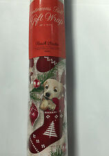 Punch Studio Gift Wrap Continuous Christmas Paper Roll Puppy Stockings Dogs
