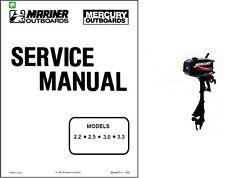 Mercury / Mariner 2.2 2.5 3.0 3.3 Outboard Motor Service Repair Manual CD