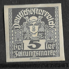c 1920 Austria Newspaper Stamp Mercury 5 Heller MNG