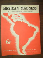 VINTAGE SHEET MUSIC - MEXICAN MADNESS - FOR PIANO