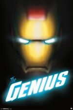 IRON MAN - GENIUS COMIC POSTER - 24x36 - MARVEL COMICS AVENGERS 14751