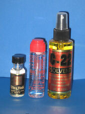 Scalp Protector,C22 Solvent Remover,Adhesive Glue Ultra Hold .5 Oz,(Combo)