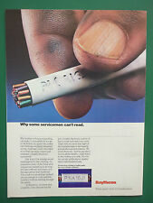 11/1986 PUB RAYTHEON ELECTRONIC EQUIPMENT LASER ETCHING ORIGINAL ADVERT