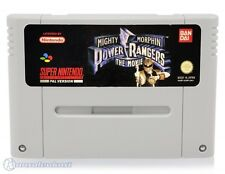 SNES game - Mighty Morphin Power Rangers game - The Movie (cartridge)