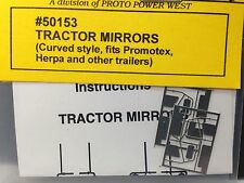 HO 1/87 A-Line # 50153 Curved Lower Arm Tractor Mirrors