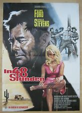 Filmplakat  / movie poster EA  A1   In 48 Stunden    Glenn Ford , Stella Stevens