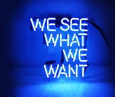 "WE SEE WHAT WE WANT Beer Bar Home Wall Poster Neon Sex Bikini Light Sign 10""x9"""