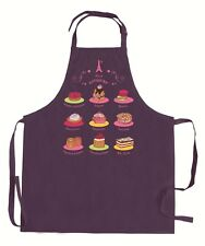 NEW! Torchons & Bouchons Adjustable Apron Purple French Patisseries