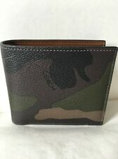 MEN'S COACH COMPACT ID WALLET IN CAMO PRINT COATED CANVAS  F75101, MRSP$175
