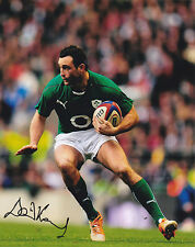Dave Kearney, Ireland rugby union, Leinster, signed 10x8 inch photo. COA.