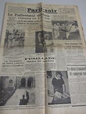 Aug 4 1939 OLD FRENCH NEWSPAPER PARIS SOIR Hitler Chamberlain II world war