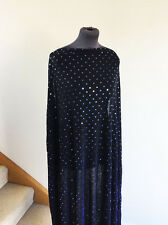 Midnight navy metallic sparkle & sequin stretch jersey couture tissu